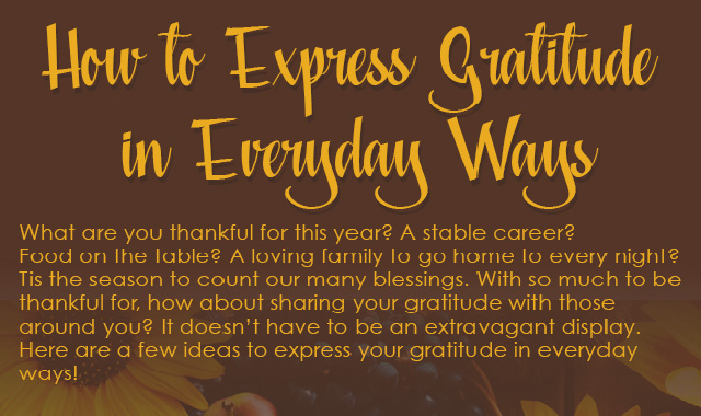 How to Express Gratitude in Everyday Ways #infographic