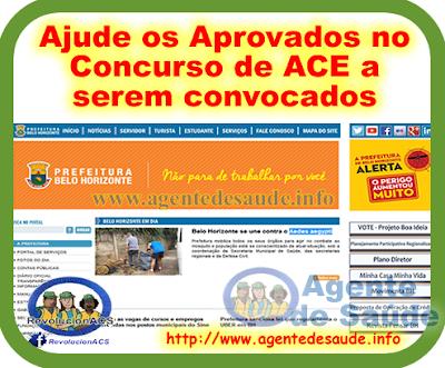Ajude os Aprovados no Concurso de ACE a serem convocados pela Prefeitura 2