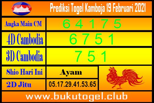 Prakiraan Kamboja 19 Februari 2021