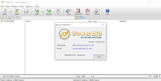 برنامج PowerISO 7.8 Full (x86/x64) Final لنسخ الاسطوانات وانشاء  الاسطوانات الوهمية