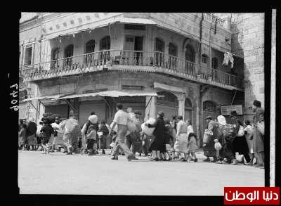 2601c195dbd6b اخلاء القدس من اليهود بحراسة الجنود البريطانيين سنة 1936