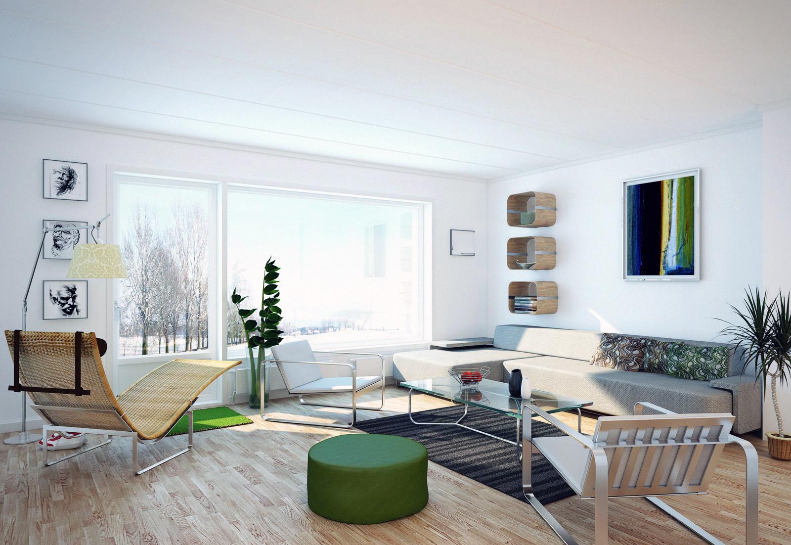 Hvit stuer   interiør inspirasjon