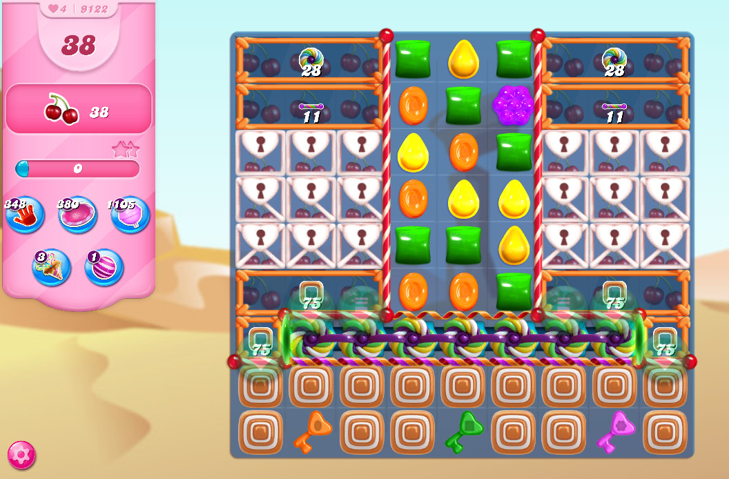 Candy Crush Saga level 9122