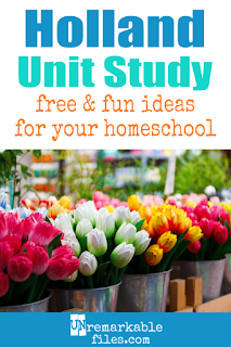 This Netherlands unit study is packed with activities, crafts, book lists, and recipes for kids of all ages! Make learning about Holland in your homeschool even more fun with these free ideas and resources. #netherlands #holland #homeschool #learning #unitstudy