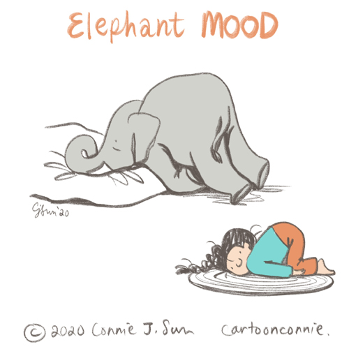 illustration, elephant, drawing, elephants, elephant comic, sketchbook, connie sun, cartoonconnie