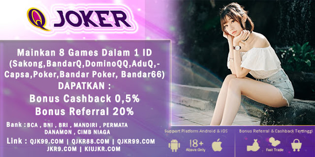 Image of Promo Bonus Cashback 2x Judi BandarQ Online QJoker