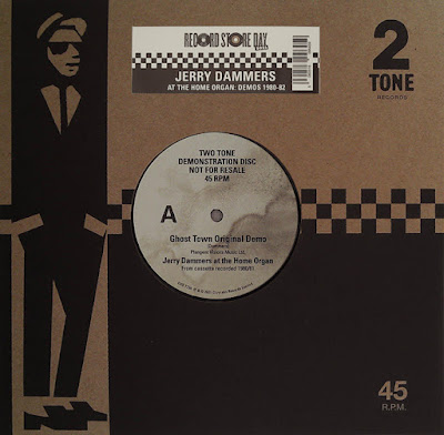 The single's cardboard sleeve features Walt Jabsco, a stylized illustration of a rude boy (based on Peter Tosh) in a suit and pork pie hat; the paper label is worn and mildewy, and features the song title and artist.