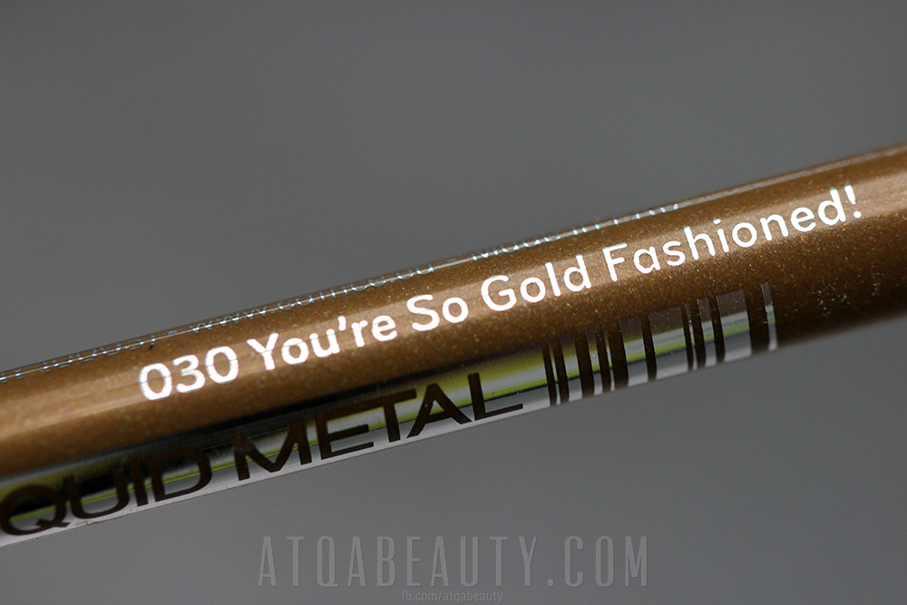 Catrice • Liquid Metal Gel Eye Pencil • 030 You're So Gold Fashioned!