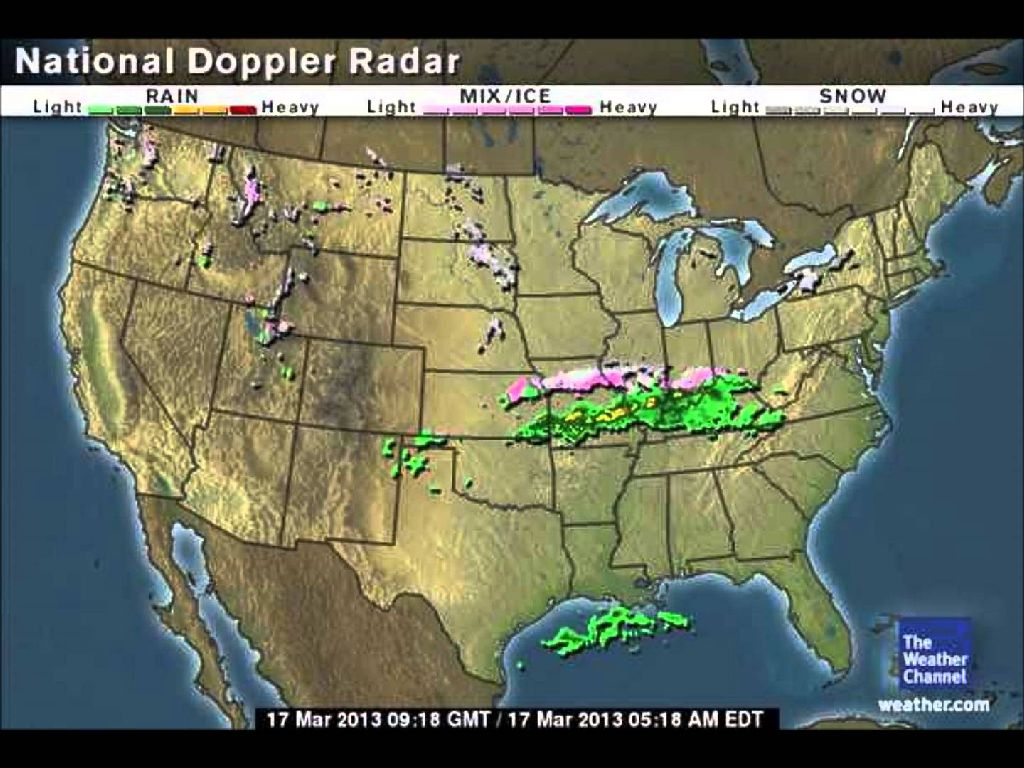weather radar map of united states