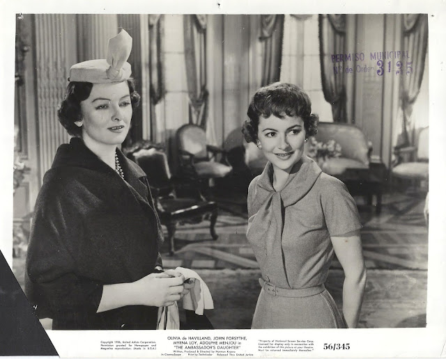 The Ambassador's Daughter movieloversreviews.filminspector.com Olivia de Havilland John Forsythe Myrna Loy