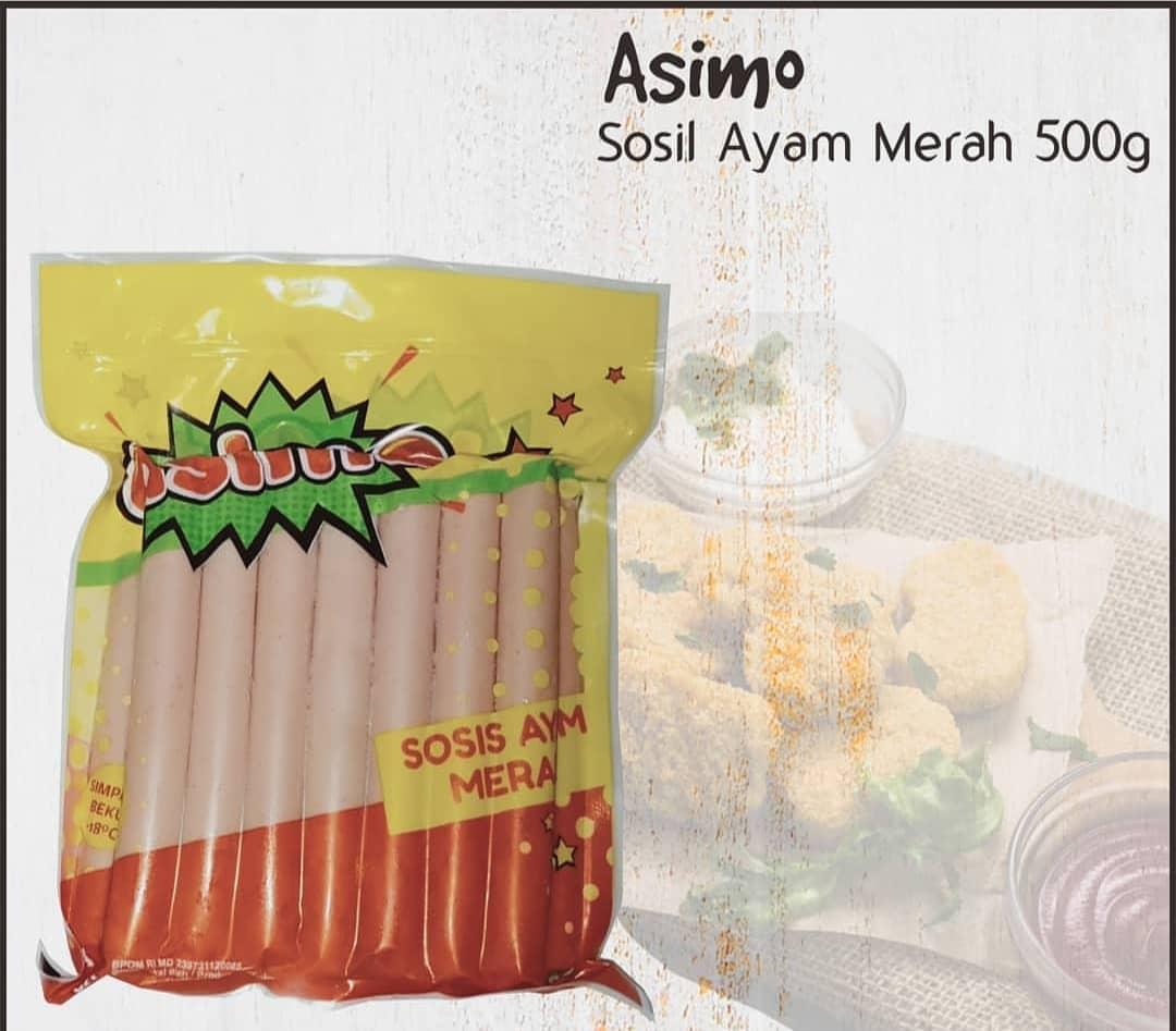 Sosis Ayam Merah Merk Asimo 500 Gram