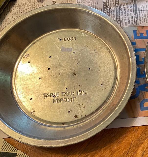 Photo of an empty pie tin.