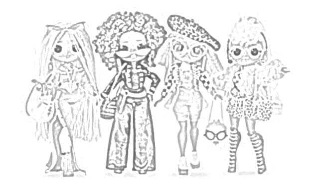 Coloring Pages L O L Surprise O M G Dolls Coloring