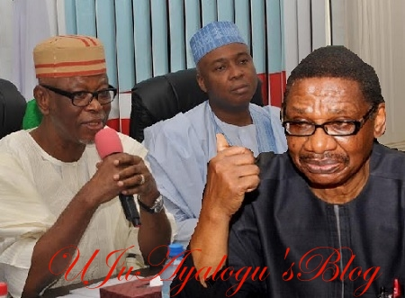 "Oyegun, Saraki Are Bunch of Hungry People In APC Bent On Destroying Buhari - Sagay; ...You're A ""Rogue Elephant"", APC Fires Back As Both Fight Dirtily"