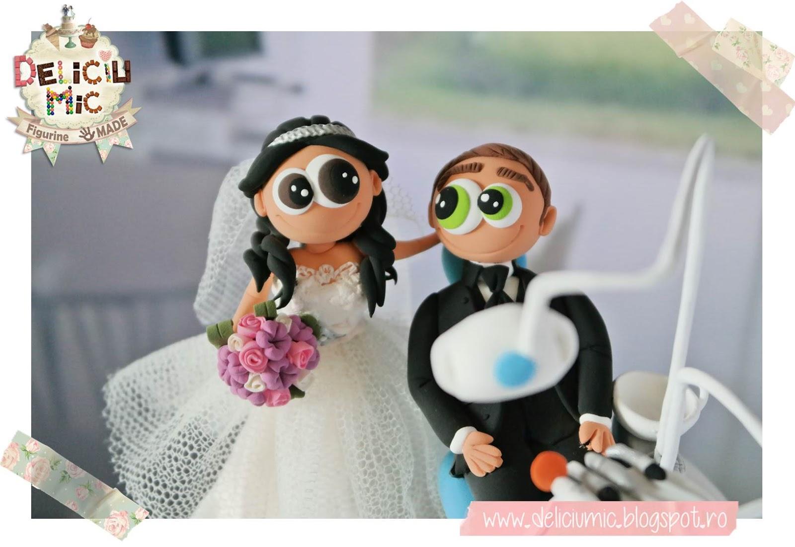 Figurine tort nunta mireasa medic stomatolog