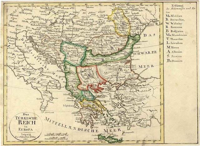 Das Türkische Reich in Europa 1817