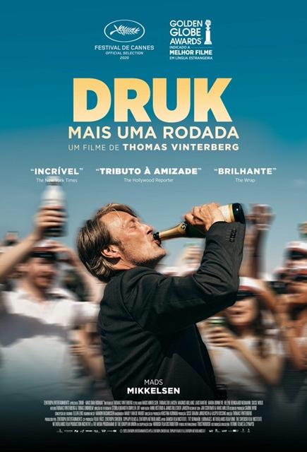 """Filme """"Druk – Mais uma rodada"""", indicado ao Oscar 2021 de melhor Filme Internacional"""