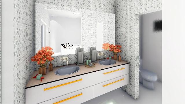 bagno 3D-progetto-computer