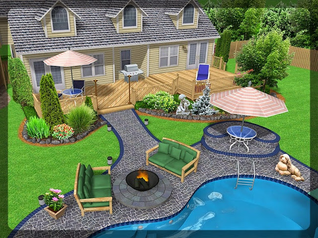 3D Plan Home Garden Design Ideas 4