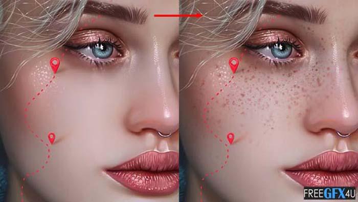 Freckle Photoshop Brushes