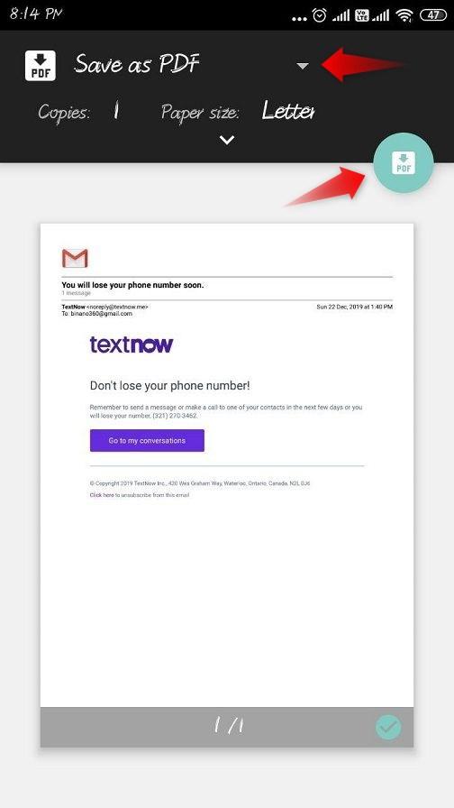 email ka pdf kaise banaye