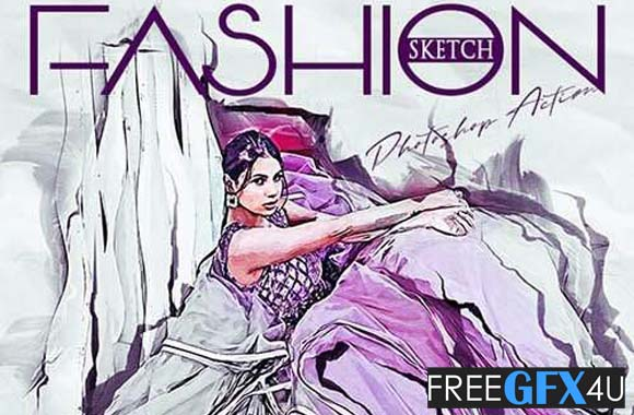 Fashion Fashion Sketch Photoshop Action