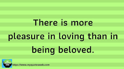 Best Quote of the Day -  There is more pleasure