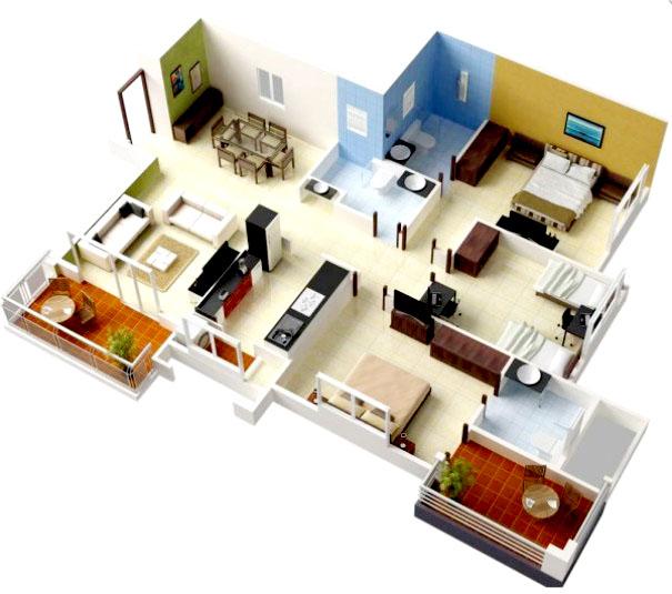 01 Desain Rumah Minimalis 3 Kamar