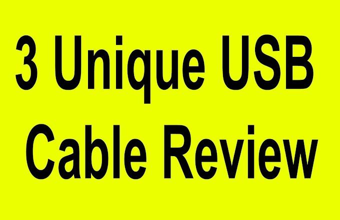 ৩টি ব্যতিক্রম চার্জিং ক্যাবল  3 Unique USB Cable Review