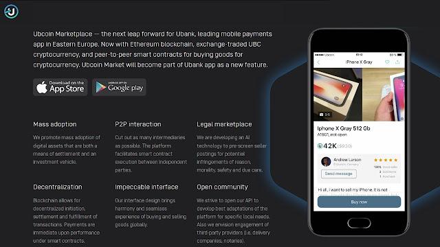 Ubcoin, Aplikasi Tukar Barang Dengan Kripto