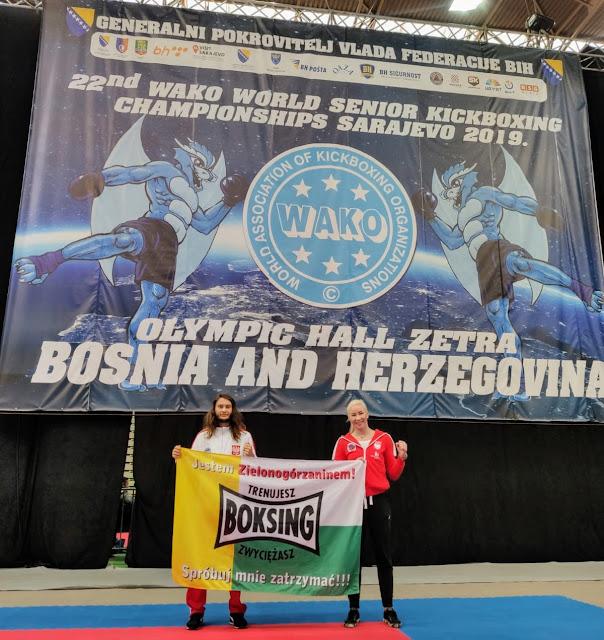 WAKO, kickboxing, k-1, light contact, brązowy medal, Przemysław Kalisz, Emilia Czerwińska, PZKB