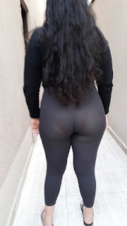 Señora sexi leggins transparentes