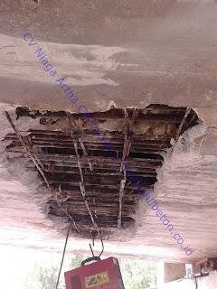 injeksi grouting beton untuk perbaikan beton keropos