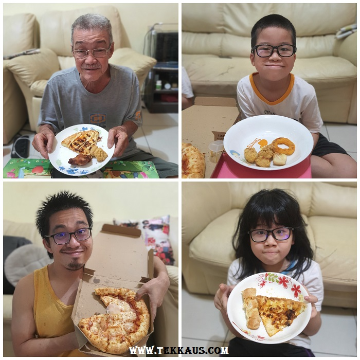 We love to eat Domino's Pizza