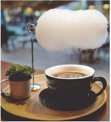 Em Xangai, uma loja especializada em café oferece uma opção diferente para adoçar a bebida