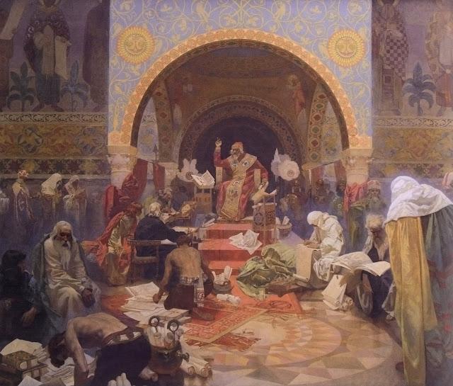 Альфонс Муха - Славянский эпос. Царь Симеон Болгарский, 1923