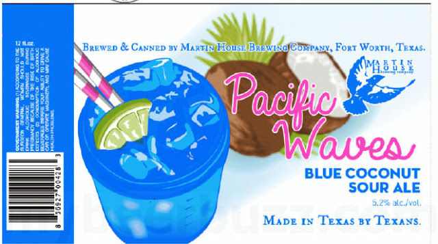 Martin House Brewing Adding Pacific Waves Blue Coconut Sour Cans