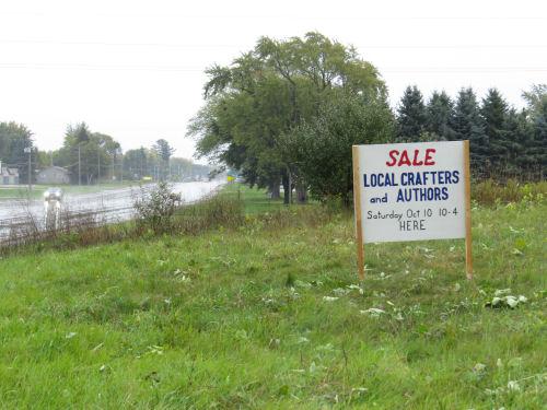craft sale sign