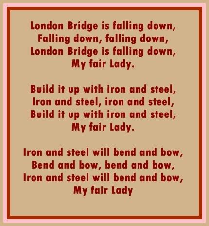 MERRY RHYMES....: LONDON BRIDGE IS FALLING DOWN...
