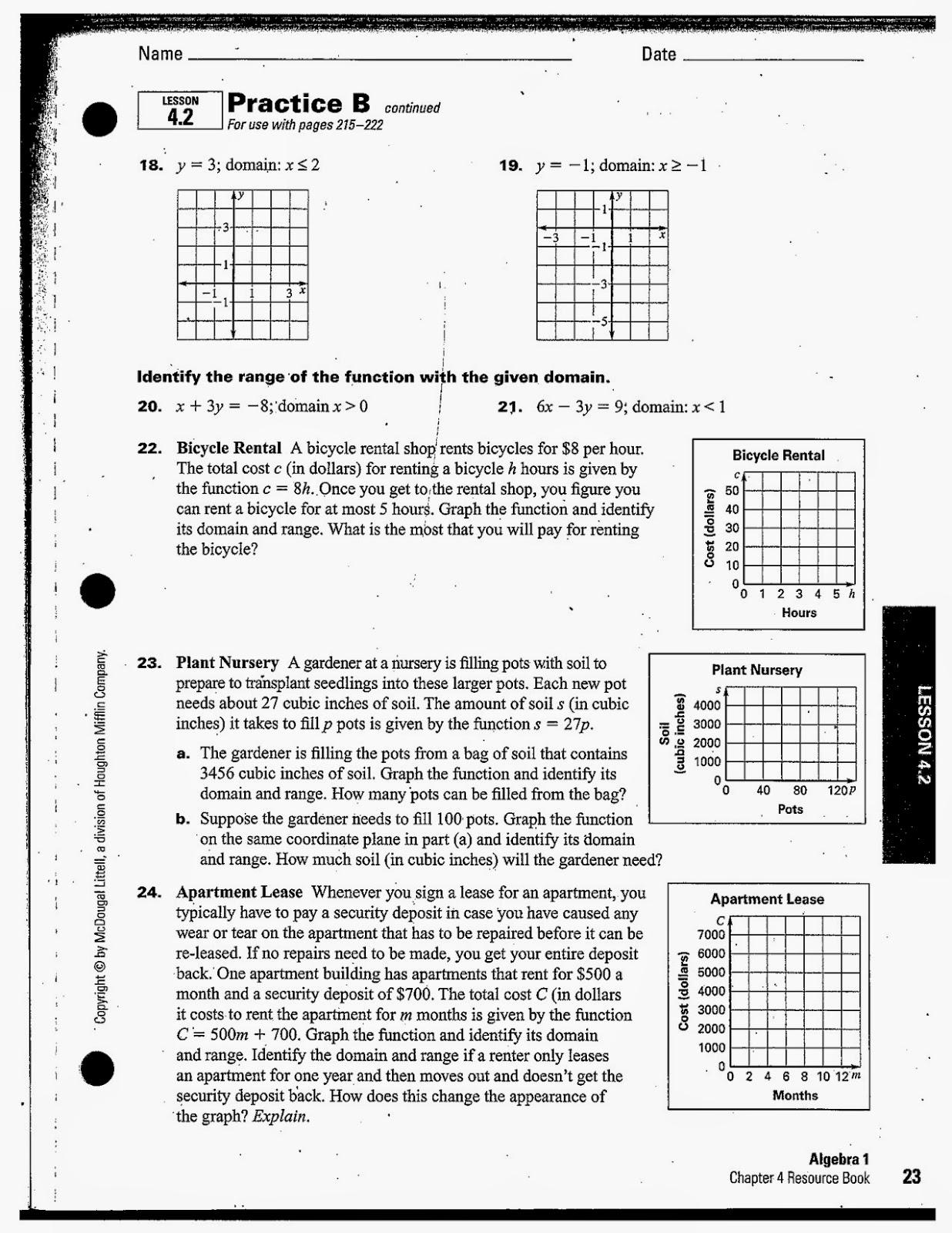Heidemann 8th Grade Math Algebra Notes And Hw 9 29