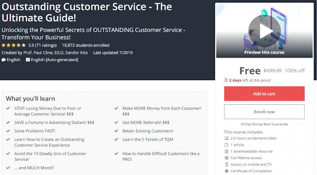 [100% Off] Outstanding Customer Service - The Ultimate Guide!| Worth 199,99$