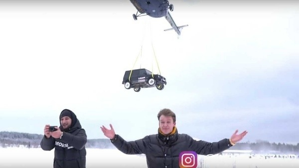Disappointed Man Destroys His N120m Mercedes SUV By Dropping It From Helicopter (Video)