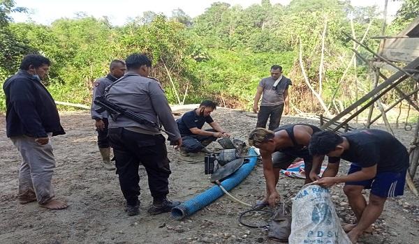 Polsek Sekadau Hulu Tertibkan PETI di Nanga Biaban