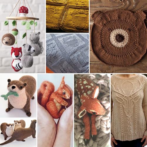Woodland Animal Knitting Patterns