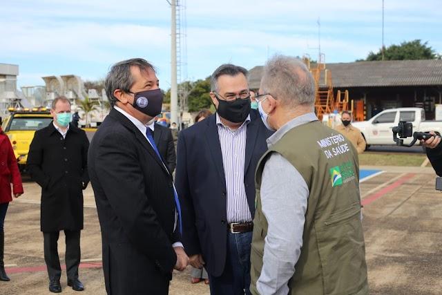 Ministro da Saúde, Marcelo Queiroga está em Foz do Iguaçu
