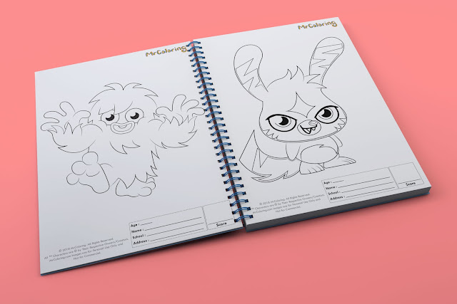 printable Scary moshi monster furi katsuma template outline coloriage Character Blank coloring pages book pdf pictures to print out for kids to color fun colouring page toddler