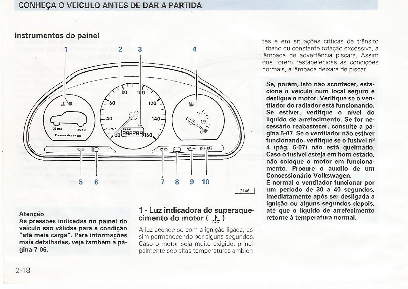 MANUAIS DO PROPRIETÁRIO GRÁTIS: MANUAL DO VW GOL 1999 Mi e