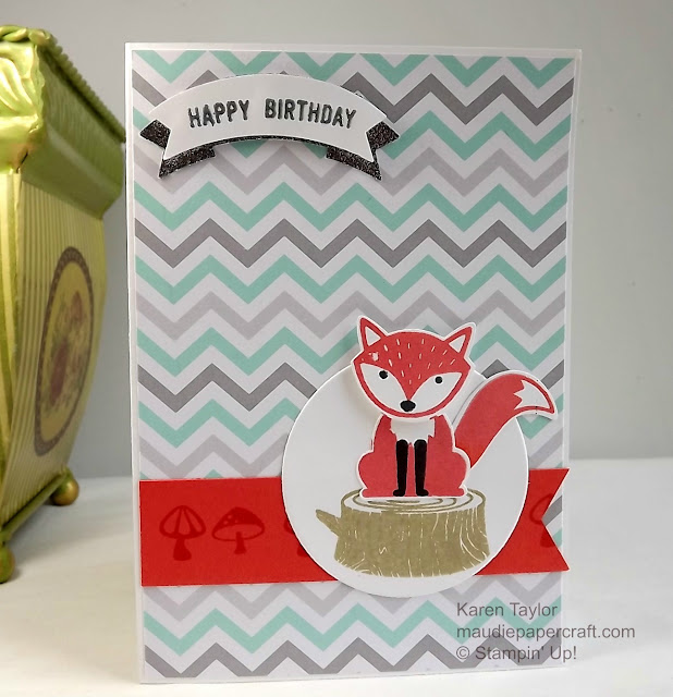 Stampin' Up! Foxy Friends card