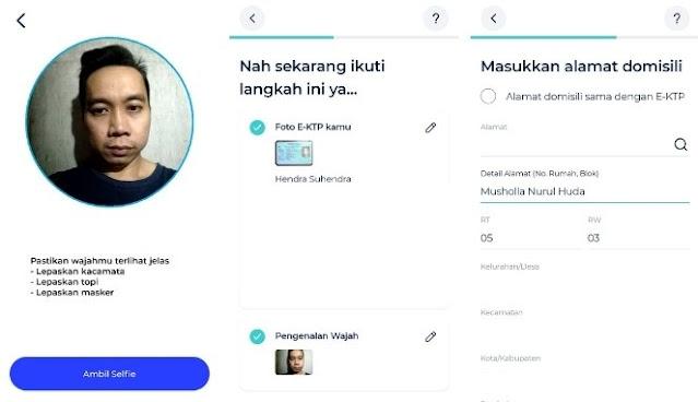 Verifikasi Wajah di Aplikasi blu