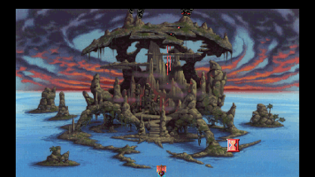 Screenshot of Mordack's Island in King's Quest V